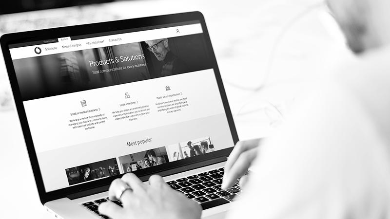 Vodafone Enterprise Online Portal Case Study